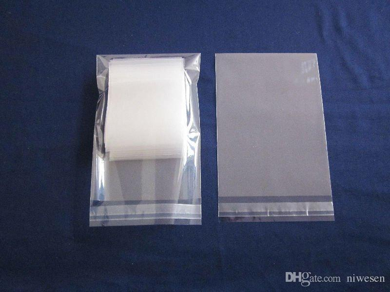 Free shipping 1000pcs/lot Self Adhesive Seal OPP bag, 9*13cm resealable transparent glue tape poly pouch, magazine/paper dust-free bags