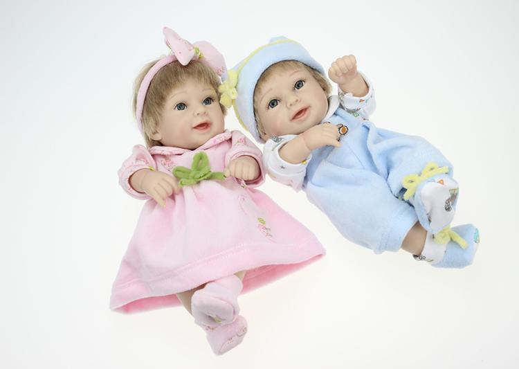 10-Zoll-Ganzkörper-Silikon-Reborn-Baby-Puppen lebendige lebensechte offene Augen realistische Babys Junge Spielzeug für Kinder