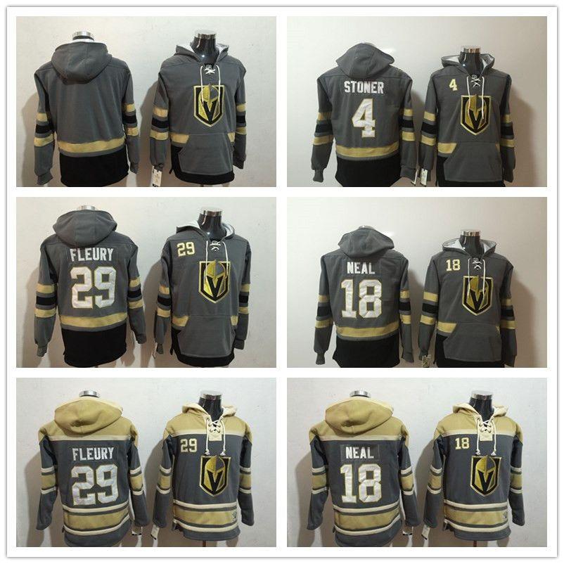 Vegas Golden Knights Kapuzenpullis 29 Marc-Andre Fleury Hockey Kapuzenpullis 18 James Neal 4 Clayton Stoner Sweatshirts Winterjacke 100% genäht