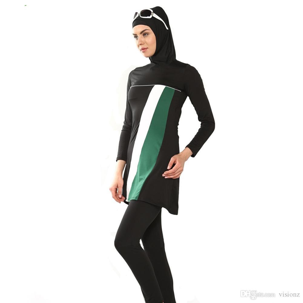 23e9323bd8fa6 Modest Muslim swimwear Islamic Swimsuit for women islamic clothing swim  suit muslim hijab bathing suit swimming beachwear Burkini