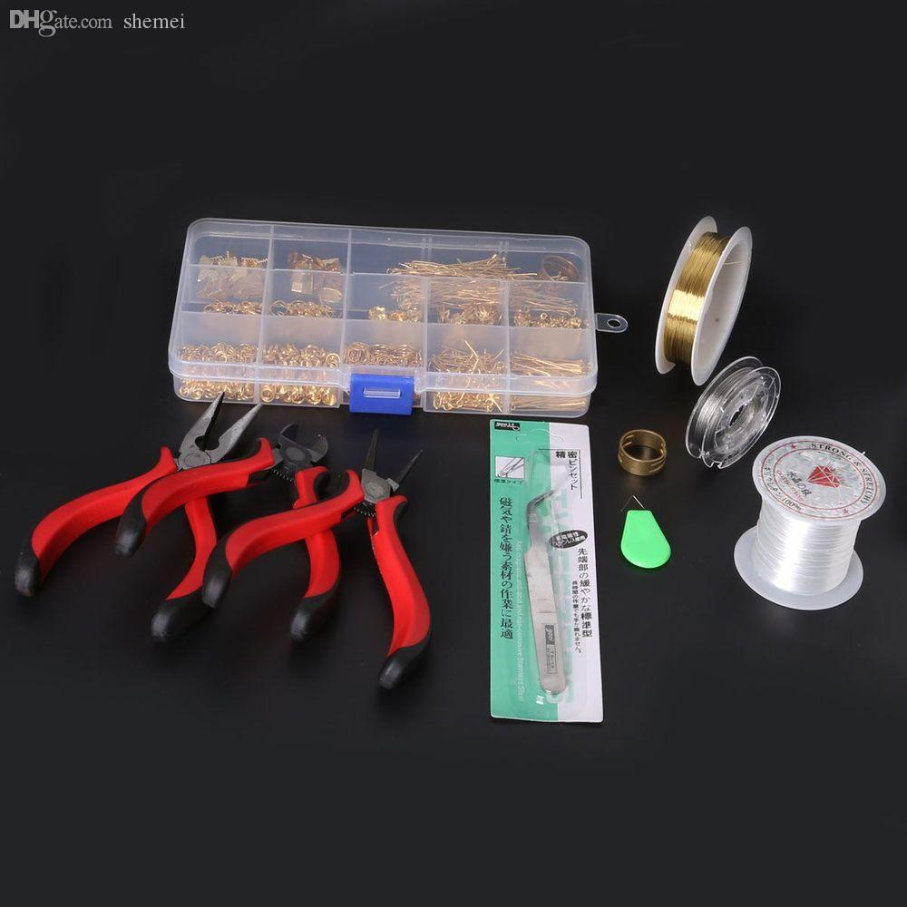 도매 무료 배송 1 SET JEWELLERY MAKING KIT, BEADS / FINDINGS / PLIERS 쥬얼리 액세서리 DIY 장착 ZH-BDH010