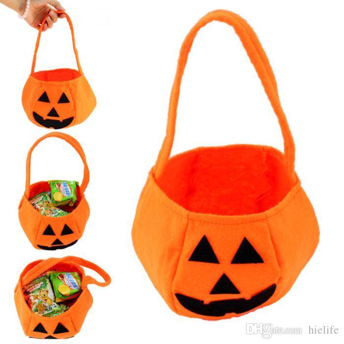 Suprimentos de Festa de Halloween Não-tecidos de Abóbora Sacos de Halloween Adereços Crianças Brinquedos Para Crianças Doces Saco de Venda Quente