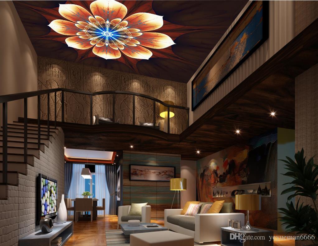 Потолок 3D обои для стен спальня на заказ вишневое дерево 3D обои стены потолок 3D домохозяйство обои