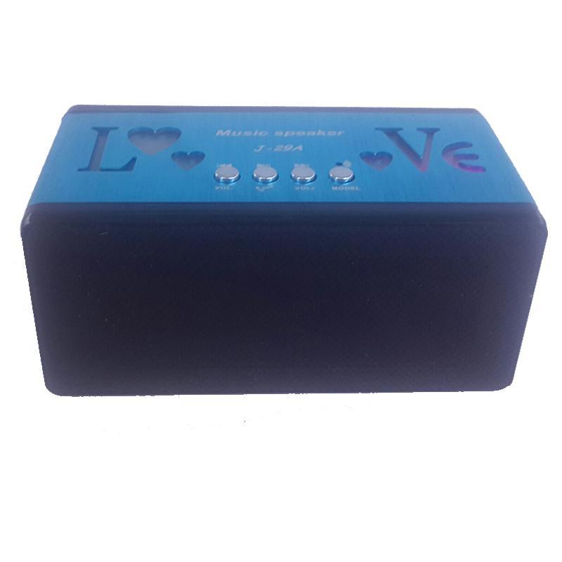 Portátil Mini Alto-falantes Bluetooth Metal Aço Sem Fio Inteligente Mãos Livres Speaker Suporte SD Cartão para o Telefone Móvel