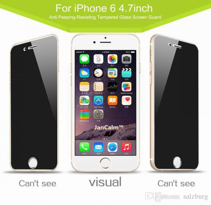 more photos 3029d cf872 For Iphone 7 Privacy Tempered Glass Privacy Screen Protector For Iphone 7  Plus Iphone 6 Samsung Note5 S6 S7 Anti Spy Peeping Retail Box Tempered  Glass ...