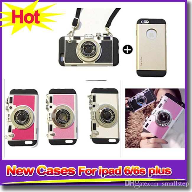 New Cell Phone Cases For iPhone 5/5s iPhone 6/6s Camera Phone Cases With Hanging Lace Protect Cases For iPhone6 6s plus