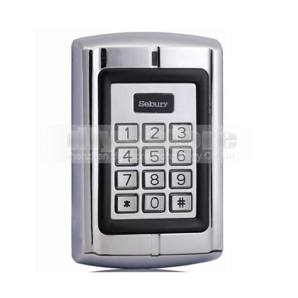 도어 잠금 액세스 제어 컨트롤러 집에 사무실에 대한 125KHz RFID ID 금속 키패드 카드 리더 보안