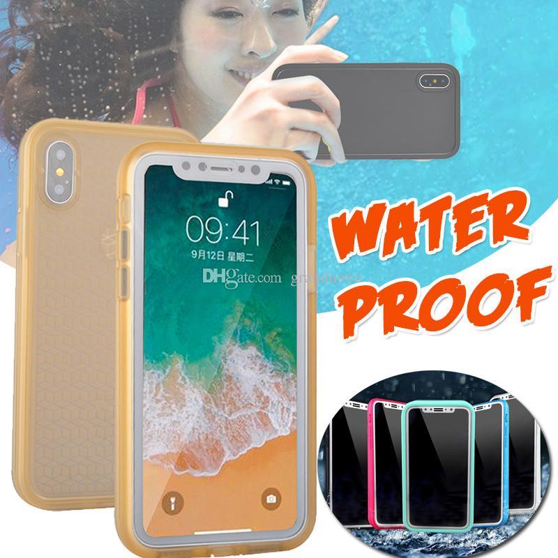 Custodia protettiva per cover posteriore in gel TPU impermeabile al 100% resistente all'acqua per iPhone XS Max XR X 8 Plus 7 6 6S 5S Samsung Galaxy S9 S7