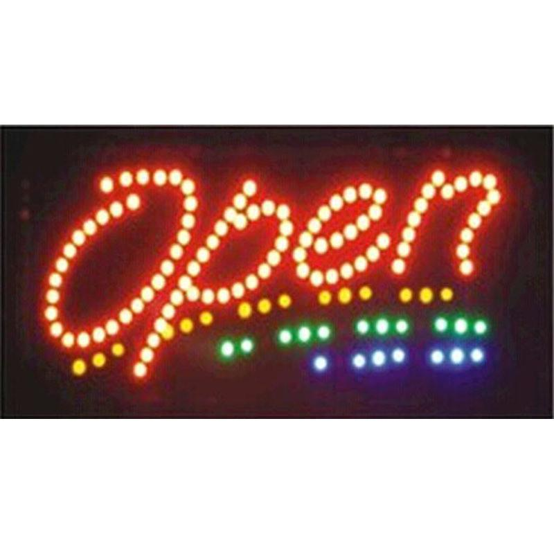 2016 limited sale customed low power 10X19 pulgadas de interior de animación Running led open sign led boards wholesale