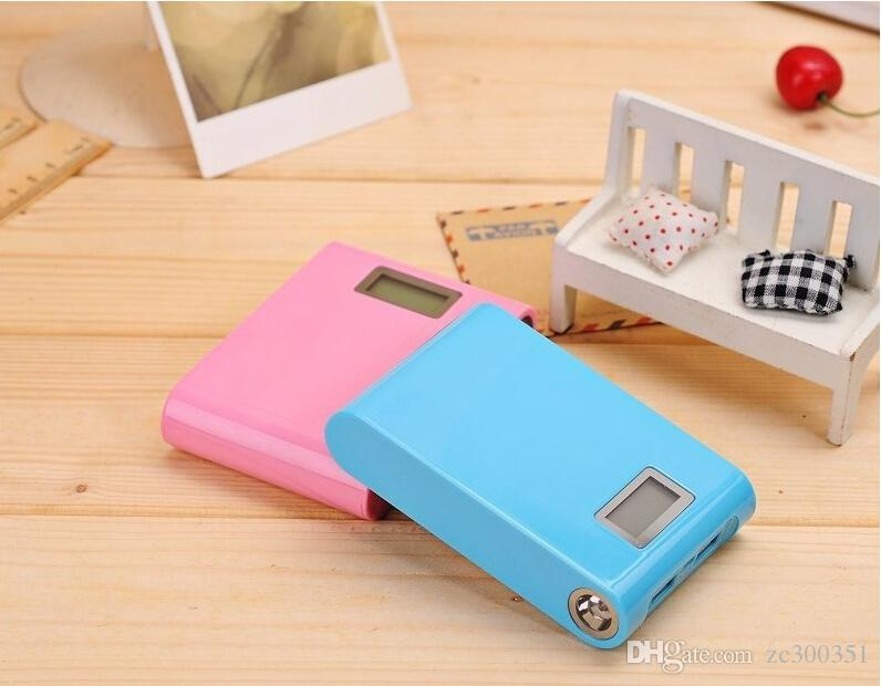 LCD Power Bank 12000mAh 1A 2A two sockets With LED lighting Portable External Battery Backup Pack Dual USB For iphone sumsung