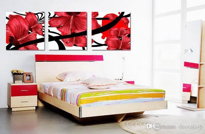 현대 아름다운 꽃 좋은 꽃 그림 캔버스에 Giclee 인쇄 홈 장식 벽 예술 Set30352