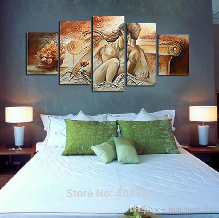 2019 100% Hand Painted Bedroom Adornment Nude Body Wall Art ...