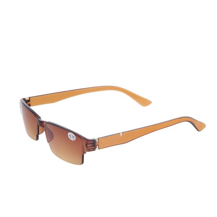 여성을위한 10Pcs / Lot의 새로운 투명한 갈색 플라스틱 하프 림리스 노안경 초경량 독서 안경 무료 배송