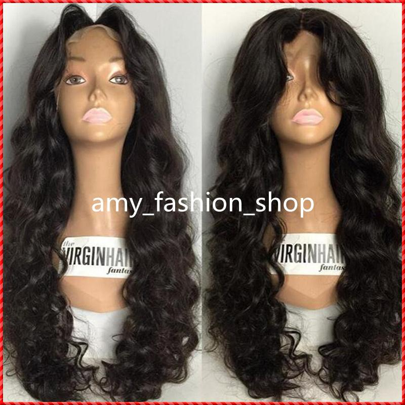 wigs for black women human hair wigs full lace wig cheap Wavy remy wholesale virgin Chinese 150 density african american body wave