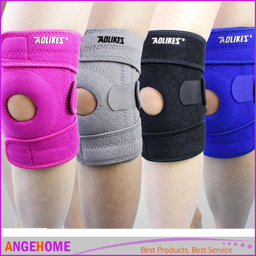 1 Piece Knee Brace 4-Spring Side Support, Knee Guard Pad Open Patella Joint Pain Arthritis, Meniscus injury Protetor Kneepads