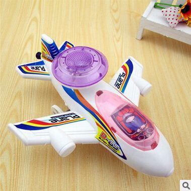 10pcs/lot Lighting Airbus Pull Luminous Glow Airplane Aircraft Children Toy Plane Simulation Model Friction Aircraft WJ339