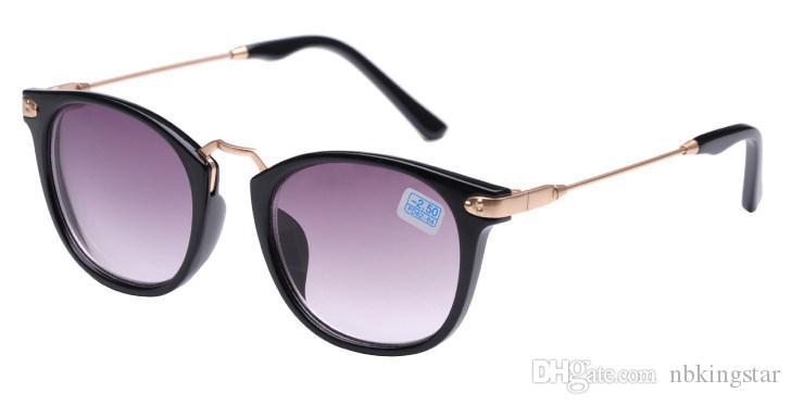 2016 블랙 근시 근시 일 유리 여성용 남성용 쉐이드 포인트 Shortsighted 선글라스 6pcs / lot