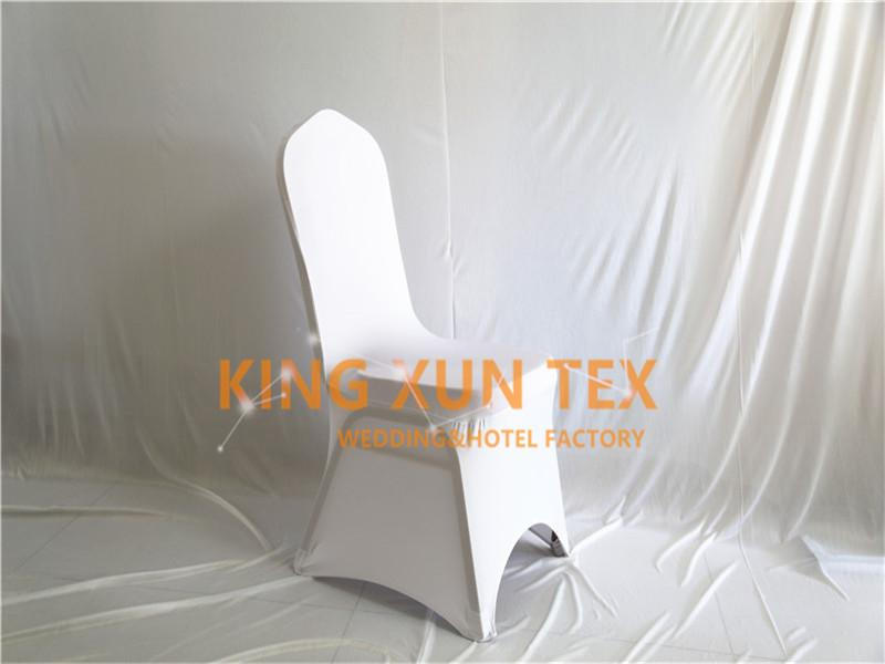 White Color 50pcs Sold Lycra Chair Cover Cheap Wedding Spandex Chair Cover Good With Arch Front Quality Free Shipping