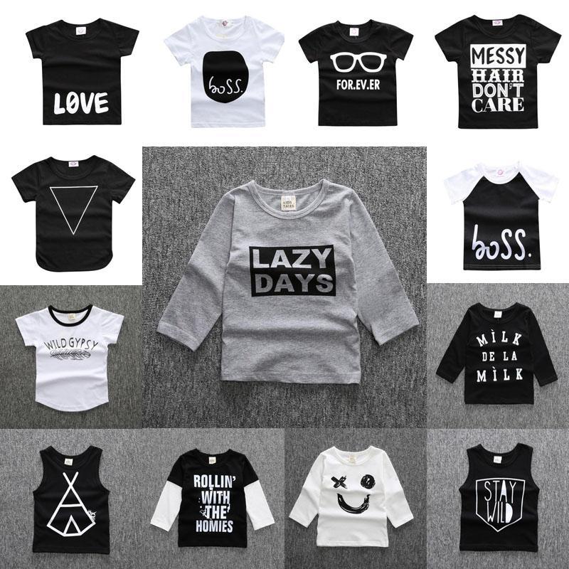 14 Arten Baby Ins T-shirt Neue Jungen Mädchen Cartoon Baumwolle Hemden Kinder Kurze Langarm Tops Frühling Sommer Beliebtes T-Shirt