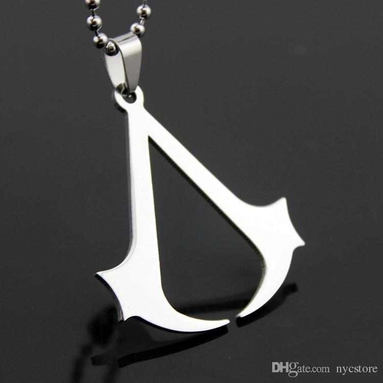 Wholesale Stainless Steel Assassins Creed Men Pendant Necklace