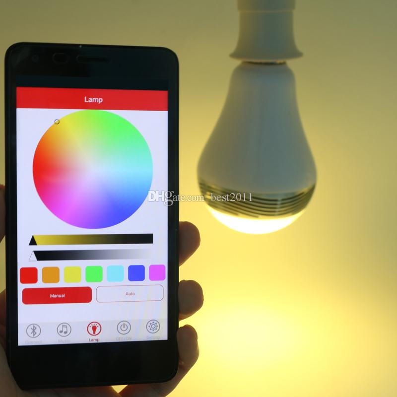 2016 Bluetooth Speaker Smart Dimmable LED Light Bulbs Color Changing Lighting Romantic party Lights Valentine's Day