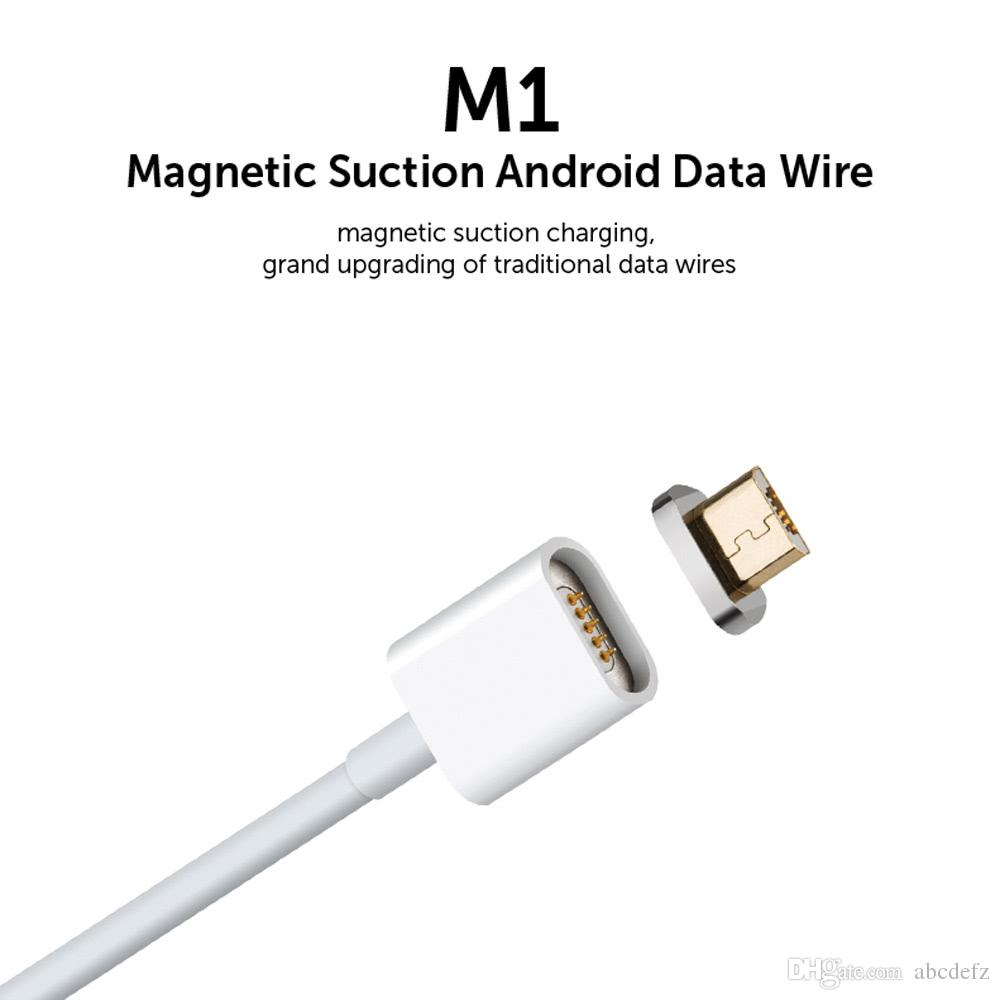 M1 Metal Magnetic Micro USB Charging Cable Suction Android Data Wire ...