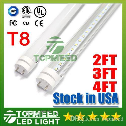 Lager in USA UL 1.2m 2FT 3FT 4ft T8 18W 20W 22W LED Schlauch-Licht 2400lm 110-240V LED-Beleuchtung Leuchtstoffröhre Lampe