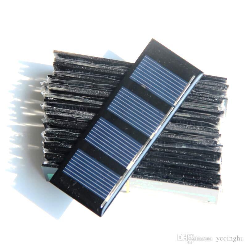 جودة عالية 2 فولت 0.2 واط البسيطة الألواح الشمسية الخلايا الشمسية للأجهزة الطاقة الصغيرة diy الشمسية لعبة لوحة التعليم كيت 5pcs / lot شحن مجاني