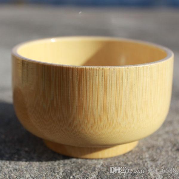 Stoviglie per bambini ciotola di bambù per bambini qualità naturali di legno senza vernice piccola zuppa di legno offerta coreana