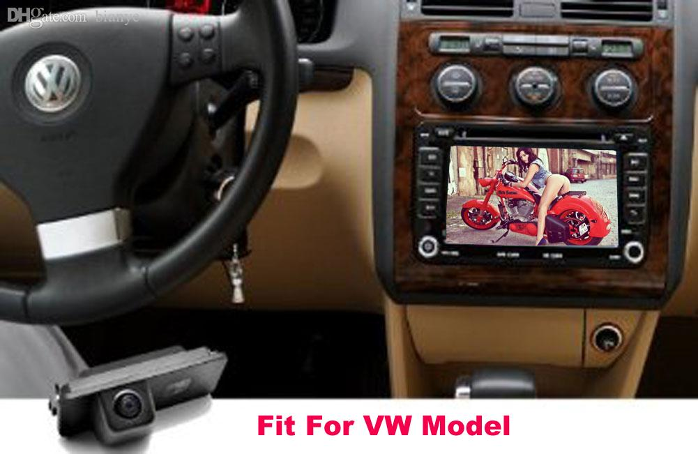 Wholesale-Car Rear View Reverse Backup CAMERA For VW GOLF V GOLF 5 SCIROCCO EOS LUPO PASSAT CC POLO(2 cage) PHAETON BEETLE SEAT VARIANT