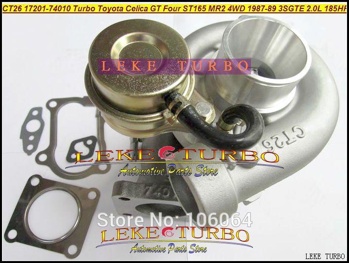 Турбонагнетатель ct26 17201-74010 1720174010 17201 74010 турбонагнетатель для Тойота Селика gt четыре ST165 МР2 4WD в 1987-1989 3SGTE от 3S-GTE для 3SG-TE и 2.0 л выдает 185 л. с