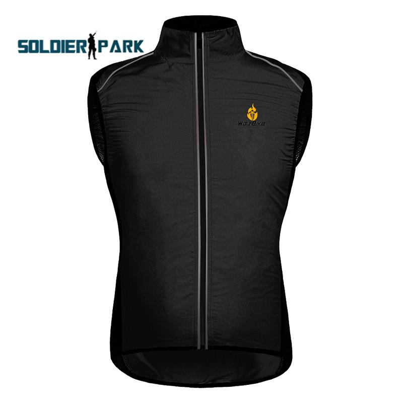 Unisex Cycling Vest Jacket Black Windproof Lightweight Waterproof Breathable Sleevelessa Vest Chaleco Ciclismo Cycling Colete order<$18no tr