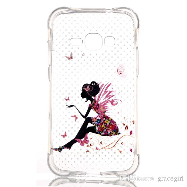 Shockproof Soft TPU Case Girl Cartoon Dot Flower Slim Back For Samsung J1 Ace J110 J710 2016 J7 Huawei Honor 5X Xiaomi M5 Mi5 Meizu MX5 Skin