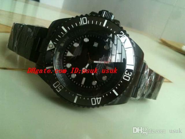 Dostawca fabryki Luksusowe zegarki Bransoletka ze stali nierdzewnej Czarny ceramiczny Bezel 116600 44mm Automatyczne zegarek męskie męskie