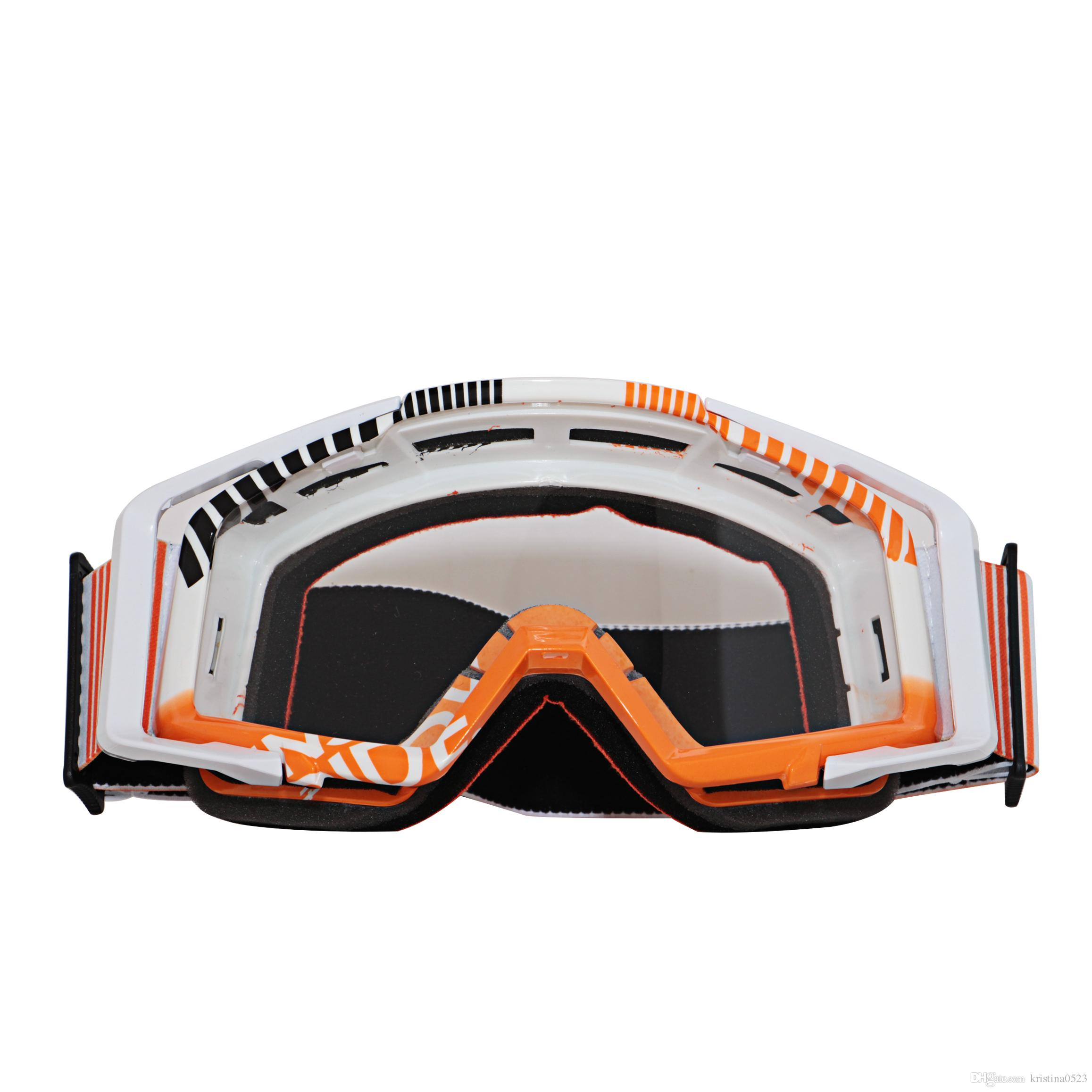 Moto Motocross Goggles Windproof Goggle For Helmet FITS OVER RX GLASSES Eyewear