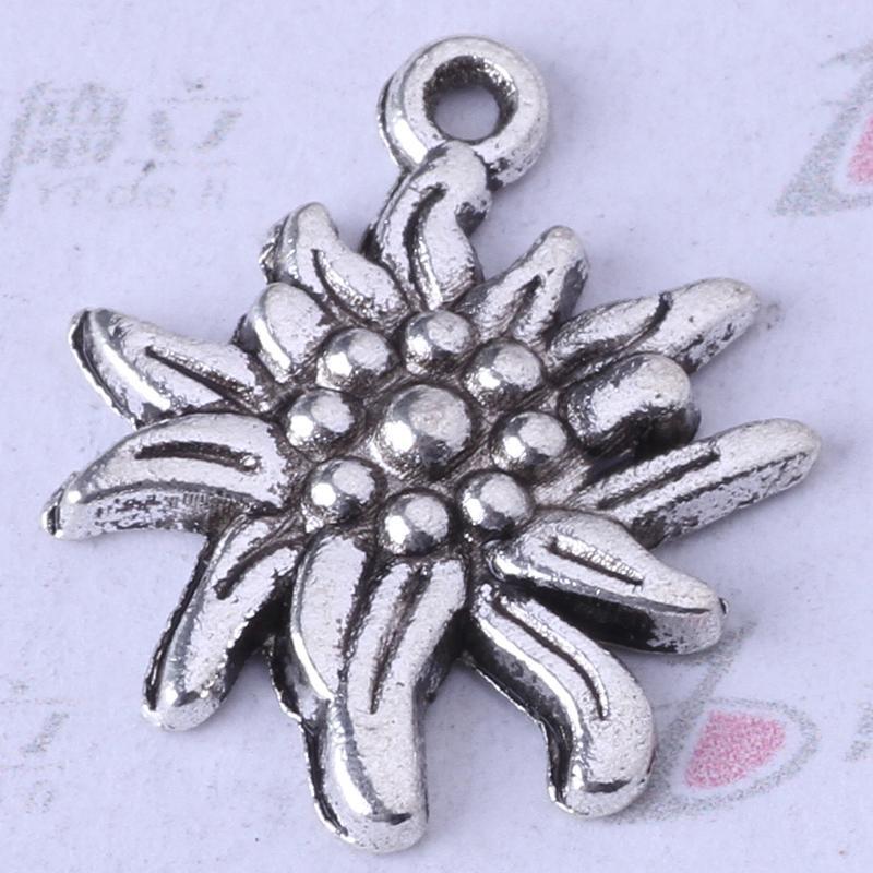 Los colgantes de plata / bronce antiguos de Daisy encantan las pulseras o el collar DIY joyería de la aleación 250pcs / lot 3357z