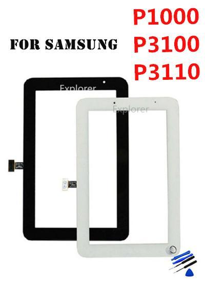OEM pour Samsung Galaxy P1000 Onglet 2 7.0 P3100 P3110 P3113 VS Plus P6200 Écran Tactile Digitizer Verre + Remplacement Adhésif 20PCS