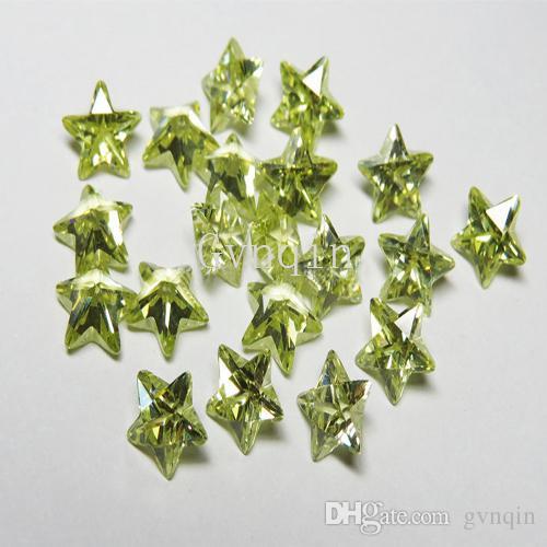 Çin Wuzhou taşlar perido Kübik zirkon Makine Kes gevşek cz boncuk perido 1000pcs / lot ücretsiz nakliye yıldızı