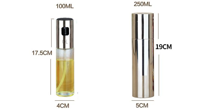 Hot Sale Glass Olive Spraying Oil Bottle Sprayer Stainless Steel Edible Oil Pot Leak-proof Drops Spice Jar Kitchenware Tools9