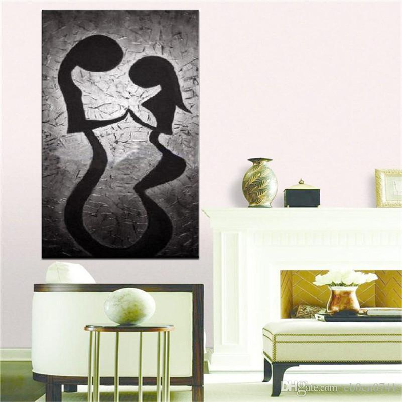 100% handgemaltes einzelnes Zauberspruchkunstzusammenfassung gegenseitige Affinitätsmalerei auf Segeltuchhauptdekorwand dekorative Kunstgeschenke