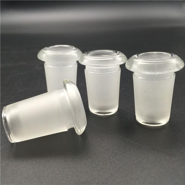 Hoodahs Mini Adaptador de vidrio 14 mm hembra a 18 mm Masculino Clear Tubos de agua gruesas Tubos de aceite Convertidores para bongs Rig