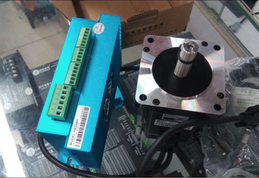 새로운 Leadshine 쉬운 서보 드라이브 HBS86H 및 NEMA 34 서보 모터 86HBM40-1000 세트 출력 1000N 엔코더 4NM 저렴한 CNC 시스템
