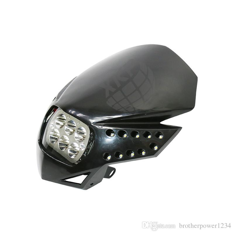 LED HeadLight Street Fighter Dirt Bike For XR KTM Ninja KLX ZX6R EX250 CRF CBR