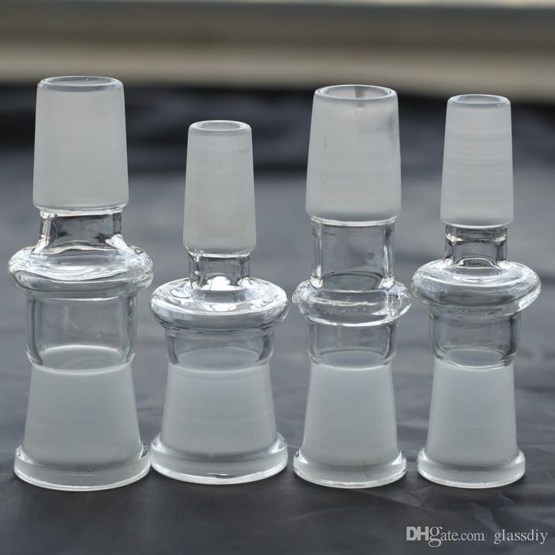 Adattatore in vetro stile Drop Down da 10 g Peso 30 g tutti i 10 stili per scegliere la femmina maschio con giunto 14.4 18.8