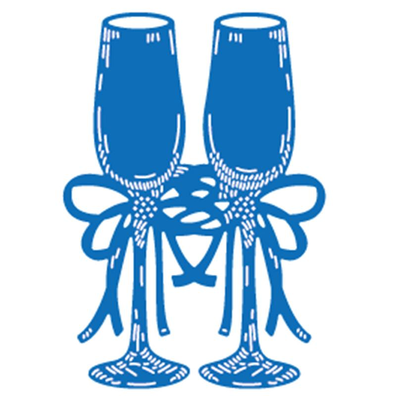 68*96mm 3D Wine Cup Customized Steel Metal Die Cutting Dies Scrapbooking Embossing Dies Cut Stencils DIY Decorative Cards q171128
