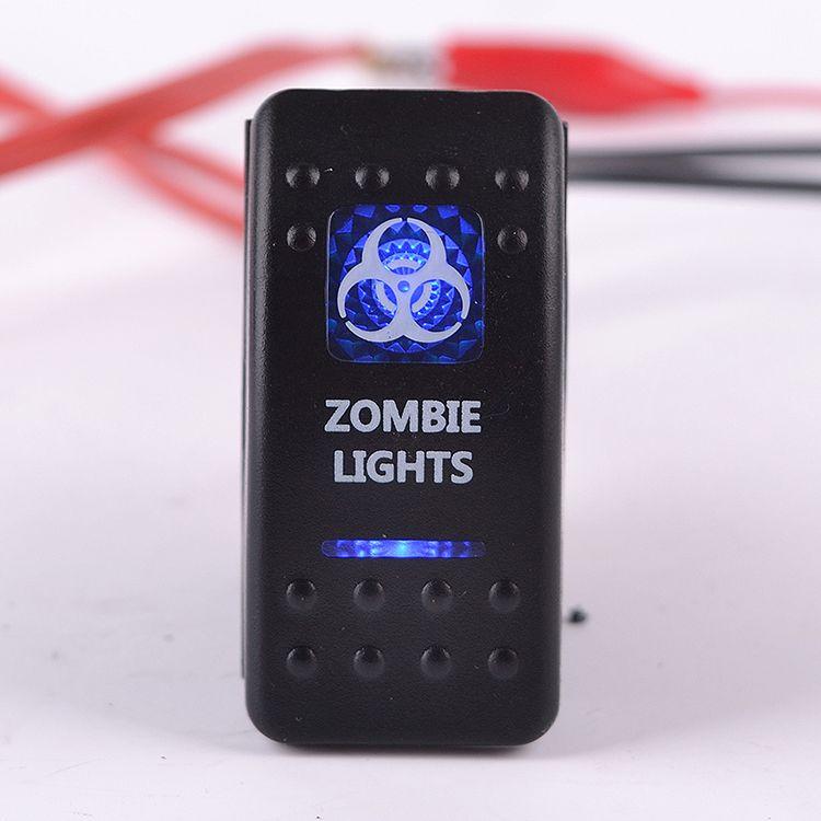 2/5 Adet Su Geçirmez Rocker Anahtarı 12 V 20A 5 Pin Bar Zombi Mavi LED Işık Itin Rocker Geçiş Anahtarı ON-OFF Araba Tekne Kamyon RV Evrensel