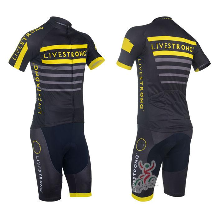 2013 livestrong Maglie ciclismo manica corta Roupa Ciclismo / Ciclismo traspirante Ciclismo Abbigliamento / Abbigliamento bici Quick-Dry Abbigliamento sportivo