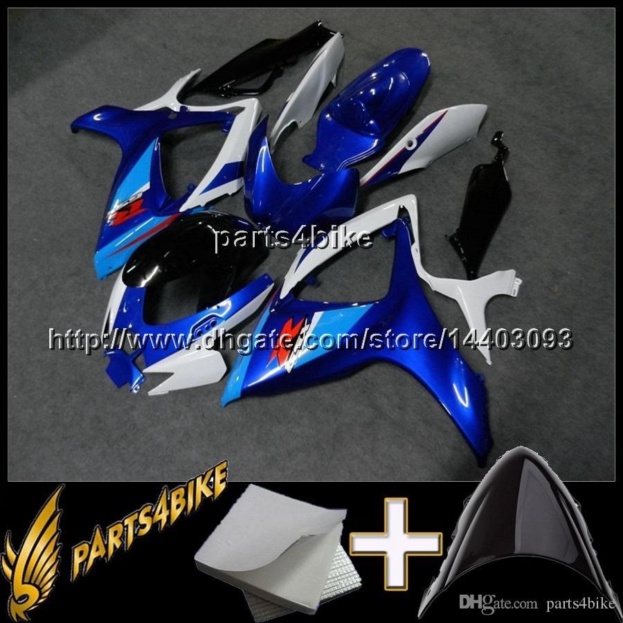 23colors+8Gifts GSXR 600 GSXR750 2006 2007 blue white Body Kit Fairing for Suzuki GSXR600 07 GSXR750 06 GSX R 600 750 06 07 K6 ABS Plastic