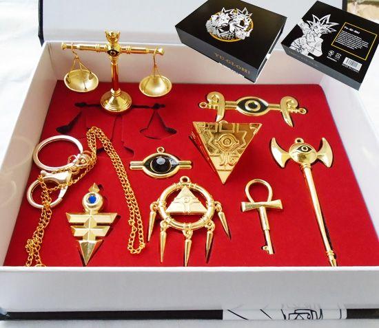 Yugioh porte-clés collier pendentif bijoux coffrets jouets Muto Yugioh jeu collier ensemble