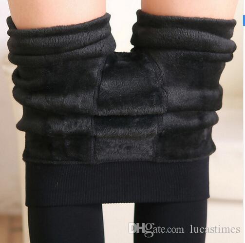 2016 женщины мода леггинсы внутри сгущает меховые теплые леггинсы женские зимние овечьей шерсти леггинсы брюки женский бархат легинсы
